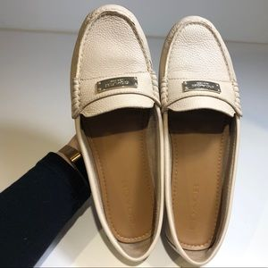 Blush pink coach leather loafers sz 9.5 B